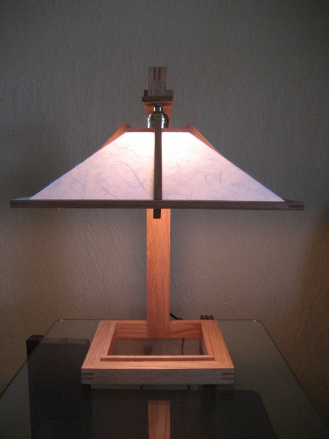 Frank lloyd wright woodworking plans furniture for Taliesin 1 table lamp