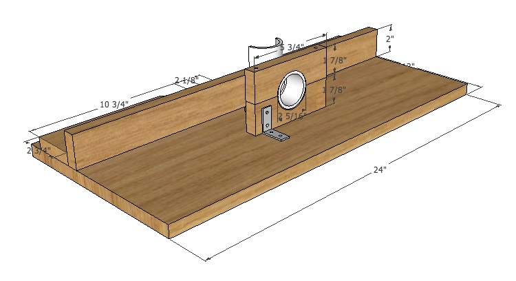 Small Parts Thickness Sander – Free Google SketchUp Drawing