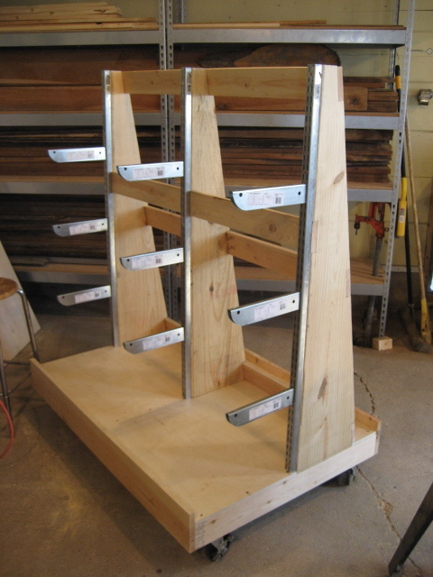 Woodworking Plans Sheet Goods And Lumber Storage Cart